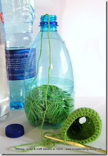 recicled bottle yarn holder