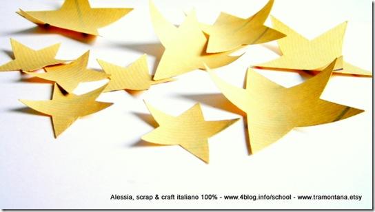 Le stelle di carta da pacchi tagliate