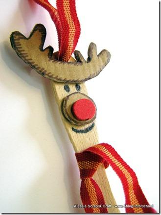 Lavoretti di Natale: le renne eco chic de artesanato de Natal con i bastoncini del gelato
