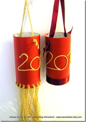 lanterne rosse riciclate