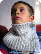Snowflake, kids and children alpaca cowl/necwarmer