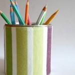Guest Post: tutorial rivestimento in tessuto per salvadanai e portapenne con i barattoli