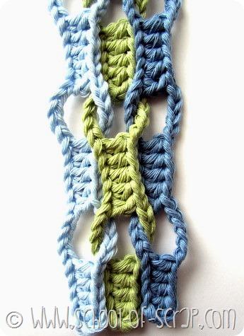 Escola Crochet: tutoriais Ponto Ondas (Wave ponto)