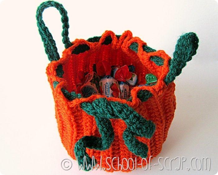 Escola de crochê: como fazer a bolsa em forma de abóbora para o Halloween