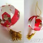 Decorazioni di Natale: come fare palline per l'albero con carta e cartoncino