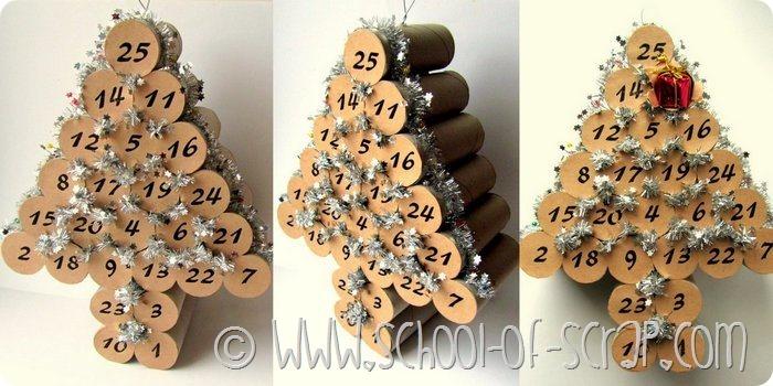 ... di Natale: fare il calendario dell'avvento con i tubi di cartone