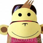 Lavoretti bambini: la scimmia fatta con un flacone di shampoo