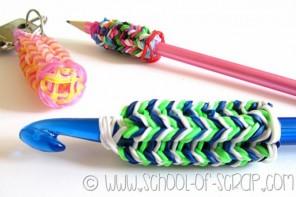 riciclare gli elastici colorati: Fare il tricotin con i band loom e usarlo per molte idee carine
