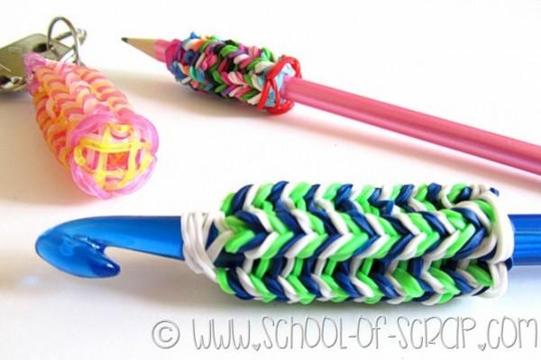 riciclare gli elastici colorati: Fare il tricotin con i band loom
