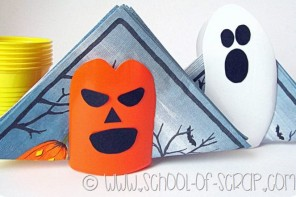 Decorazioni per Halloween: portatovaglioli da tavolo fai da te video tutorial
