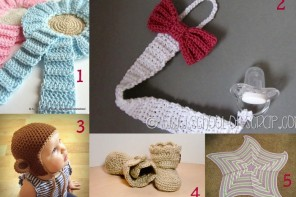 10 PROGETTI PER FARE accessori per neonati all'uncinetto, RACCOLTA DI IDEE